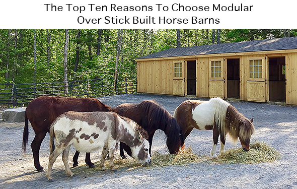 The Top Ten Reasons To Choose Modular Over Stick Built Horse Barns