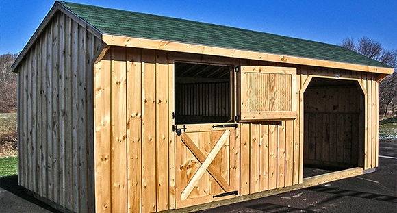 The humble run in shed adds true value by nikki alvin smith for Horse barn materials