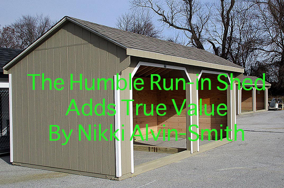 The Humble Run-in Shed Adds True Value By Nikki Alvin-Smith