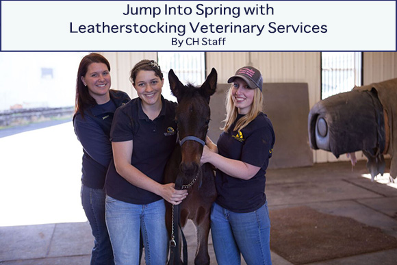 Jump Into Spring with Leatherstocking Veterinary Services~ CH Staff